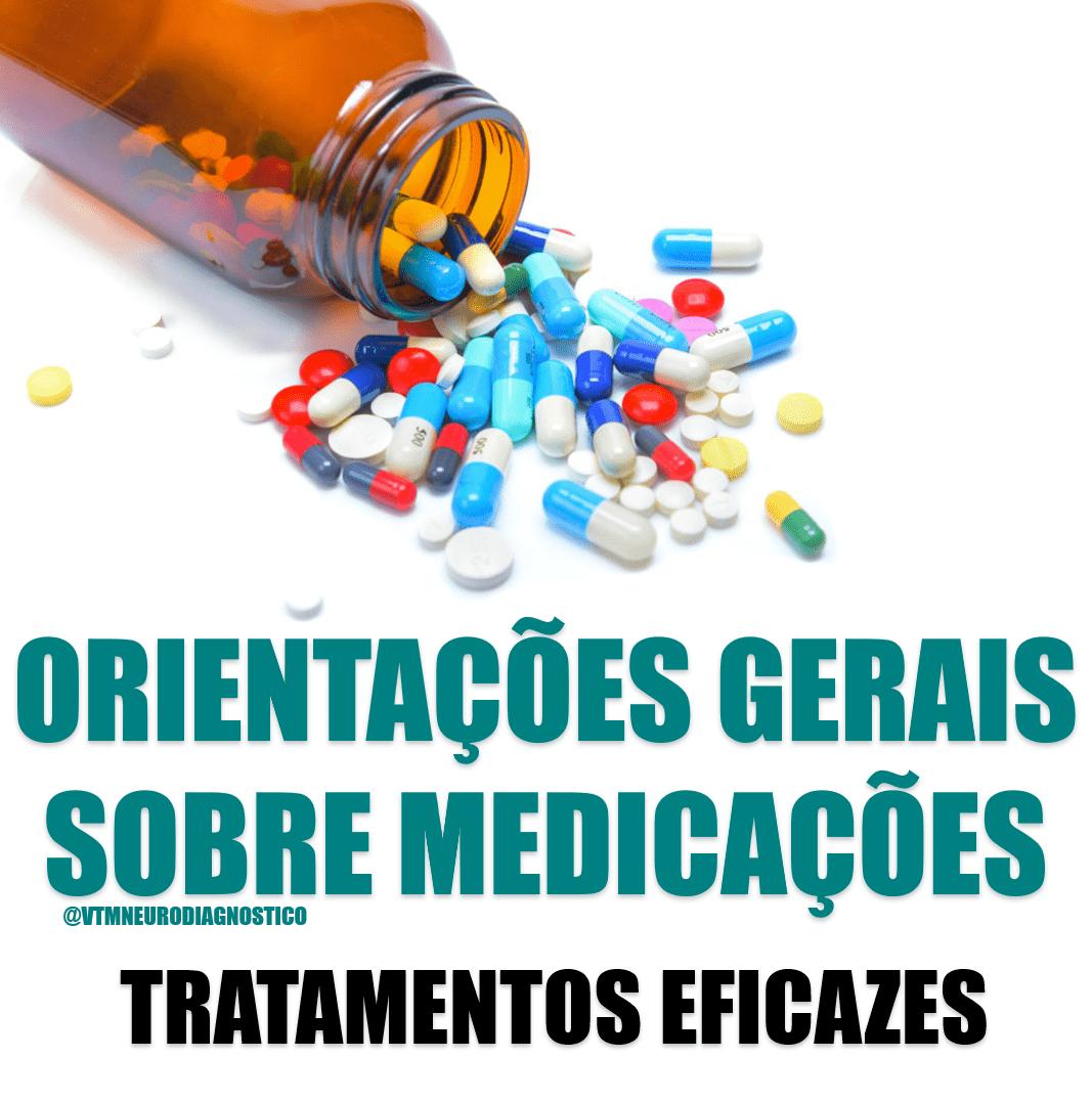 Orientações para uso de medicamentos