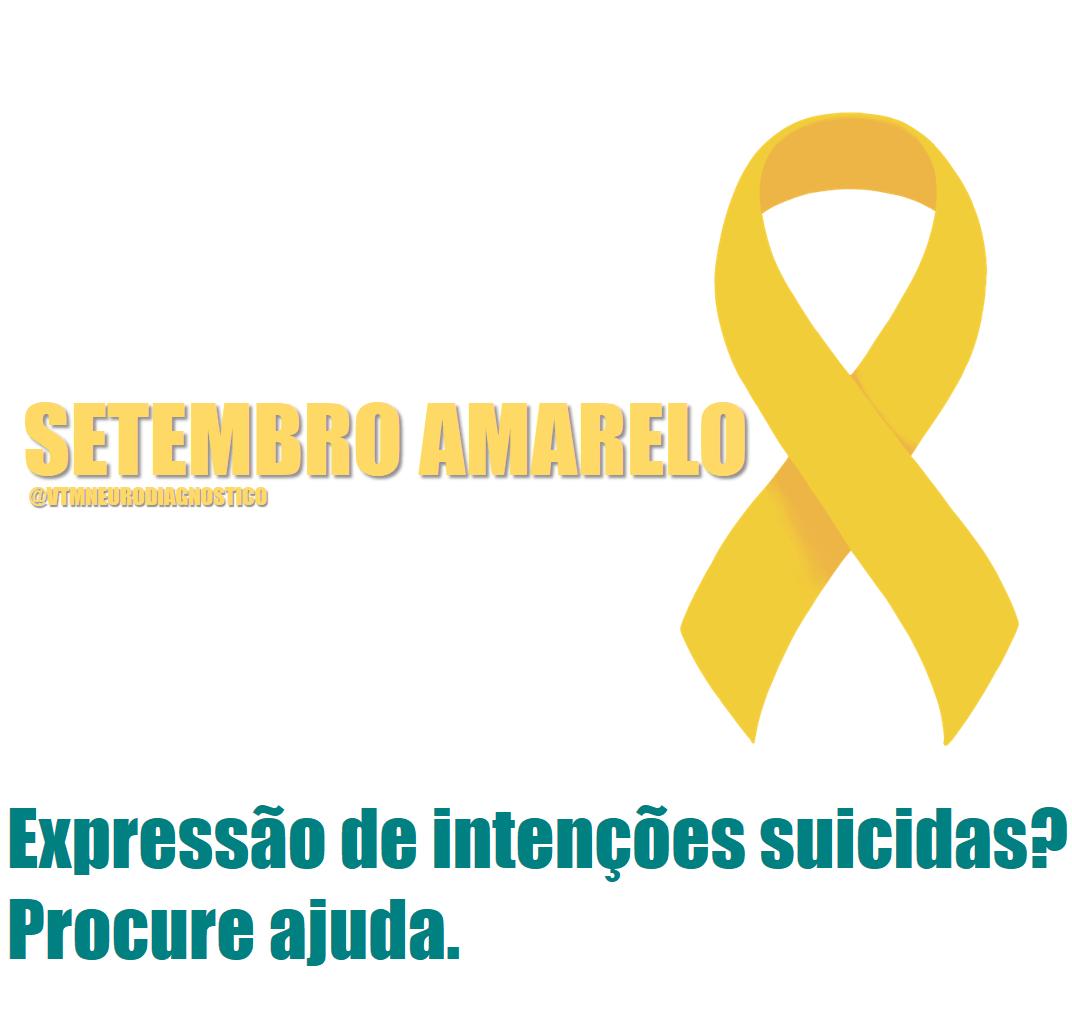 Setembro Amarelo – Prevenção do Suicídio.